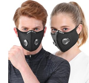 2020 Hot Mesh dust gas mask with dust cover, cycling mask outdoor smog protection for men and women adjustable respirator mask