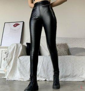 Progettista delle donne Peach natica moto Pantaloni a vita alta stretto europea Corpo e americani sexy stile di alta elastico pantaloni PH + ZY20040305
