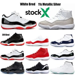 nike air Jordan Retro 11  23 45 silverConcord metálica casquillo y del vestido azul Gamma ganar así 82 96 zapatillas de baloncesto