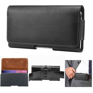 Moda para hombre Universal Cinturón de cuero genuino paquete paquete Clip de cinturón para Samsung S10 S9 S8 Nota 9 Funda Holster Funda