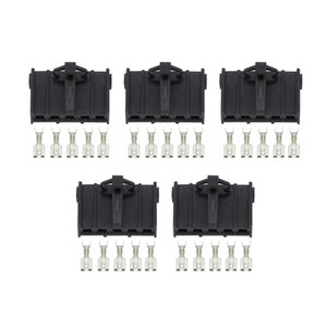 5 Sets Automotive 5 Pin Female Harness Connector DJ7052A-4.8-21 Auto Wire Connector
