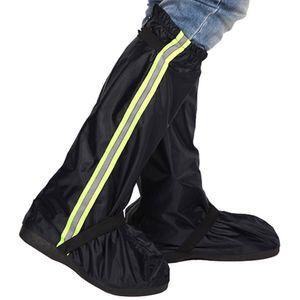 Men Women Reusable Bike Cycling Outdoor Rain Boot Oxford Cloth Reflective Tape Non Slip Long Motorcycle Waterproof Shoe Cover