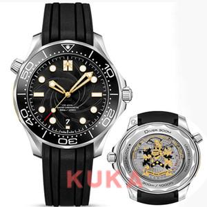 Fashions hochwertige Männer Uhr Gold reloj Limited Edition James Bond 007 300M Diver 210,22 Diamant montre Uhren Herren-Uhr Armbanduhren