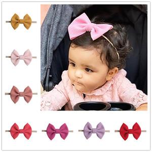 2020 Прекрасные Детские луки ободки Bowknot волос Обертывания Бабочка узел Multicolor Hairbows Обручи для новорожденных малышей девочек Headress E22508
