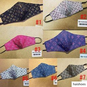 Marque Masque lait Fibre et Mesh Double Couche Designer Masque de luxe Lettre sunproof Vélo Bouche Couverture Facemask pour Hommes Femmes NEW D52808