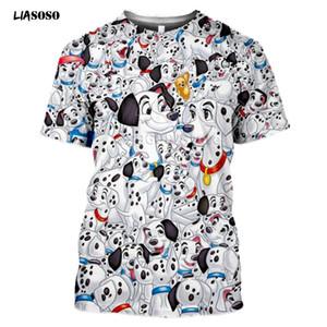 LIASOSO новый 3D печати женщины мужчины ребенок топ аниме Далматин лето футболка хип-хоп O-образным вырезом повседневная утка печати уличная с коротким рукавом