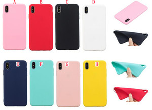 Mat TPU Cas Pour Samsung Galaxy S10 Plus S10E A7 2018 J4 J6 Huawei P30 Pro Compagnon 20 P Smart 2019 givré bonbons en caoutchouc couverture de téléphone peau