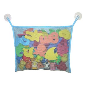 Baby Bath Toy Organizer, com Powerful ventosas Hesh Bag Two, Heavy Duty, malha saco, azul claro