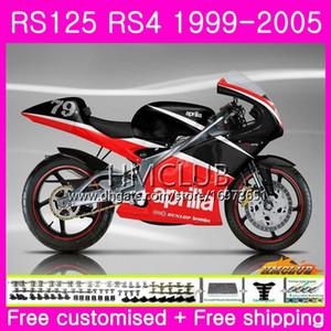 RS125R pour Aprilia RS 125 1999 2000 2001 2002 2003 2005 40HM.8 Top Noir Rouge RSV125R RS4 RS-125 RSV125 R RS125 99 00 01 02 03 04 05 Carénage