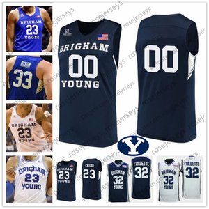 BYU Cougars Basketball personnalisés 32 Matt Haarms 4 Alex barcello 5 Jake Toolson 23 Yoeli Childs 30 TJ Haws HOMMES LES JEUNES KID Jersey