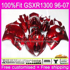 SUZUKI Hayabusa Enjeksiyonu GSXR1300 GSXR 1300 96 97 98 99 00 01 07 22HM.21 İnci kırmızısı Soğuk GSX R1300 1996 1997 1998 1999 2000 2001 Kaporta
