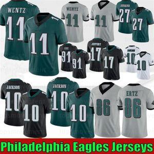 11 Carson Wentz Jerseys 10 DeSean Jackson 86 Zach Ertz 20 Brian Dawkins 9 Nick Foles 19 JJ Arcega-Whiteside 91 Cox 2020 Hot Football Jerseys