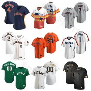 New Baseball Homens Mulheres Youth 5 Jeff Bagwell Jersey 24 Jimmy Wynn 33 Mike Scott 7 Craig Biggio 25 Jose Cruz Nolan Ryan