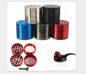 fashion 4 layers Grinders 5 Colors zinc Alloy 40mm Metal Grinder grinding tools other Smoking Accessories Household A2051