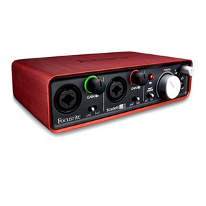 New Focusrite Scarlett 6i6II 6 In 6 Out USB 2.0 Audio Interface With Two Focusrite Mic Preamps professional sound card for recording