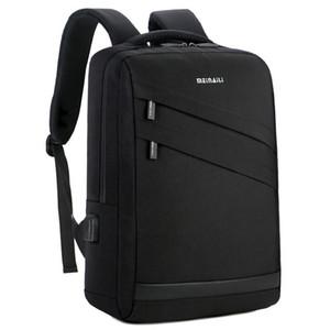 Ordinateur portable Business Sac à dos 14 15,6 pouces Mode Hommes Voyage Back Pack multifonction école nylon noir pour les adolescents des sacs à dos