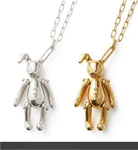 AMBUSH Rabbit Pendant 925 Silver Necklace simple hip hop fashion jewelry Exquisite gift box packaging