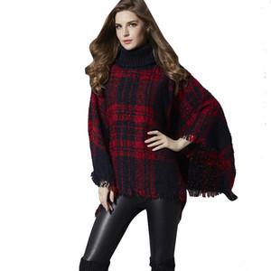 Srogem Casual Women Fashion Herbst Turtleneck Umhang Ärmel Tassel Sweater Gebunden blusa masculina inverno tmallfs modis croche 25