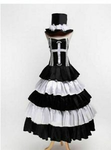 One Piece fantasma principessa Perona nuovo lungo costume cosplay Dress