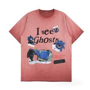 20ss moda del fantasma del diavolo stampa Tee Gradient lavato Shirt in cotone traspirante a maniche corte Donne Uomini High Street T-shirt HFXHTX294