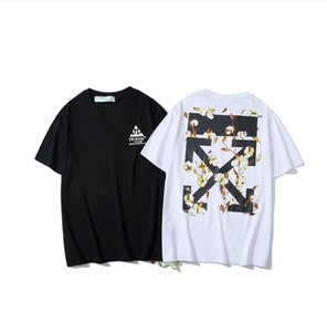 Spring and summer new tide brand O&W short sleeve arrow oil painting T-shirt female cotton loose men and women couples