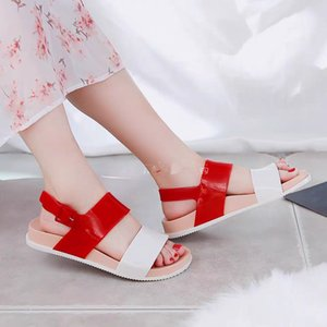 Melissa Flat Sandals Women Shoes Gladiator Open Toe Buckle Soft Jelly Sandals Female Casual Women's Flat Platform Beach Shoes