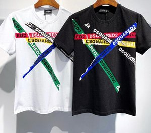 CIRCUITO INTEGRATOcamicia DSQ foto Real Luxury shirt Top motivo come nuovo stile d camicie Deluxes lettera di stampa della camicia