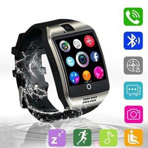 Q18 Смарт часы Bluetooth Спортивные часы Поддержка GPRS SIM-камеры Ответ на вызов Водонепроницаемая для Android с Gift Box Retail