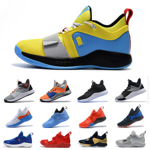 Luxury High quality Basketball Shoes Paul George Zoom NASA X PG 3 PG 2 Sky Blue PG 2.5 Black Gold Size 7-12