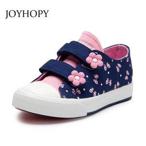 Nuovi bambini scarpe per ragazze moda bambini scarpe di tela floreale carino arco stampato bambini sneakers traspirante neonate scarpe Y190523