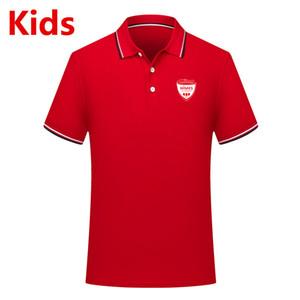 Ligue 1 enfants Nimes maillots de football Polo chemises enfants soccer pour les jeunes Polos Polos à manches courtes peuvent être DIY sur commande du football de fans Hauts