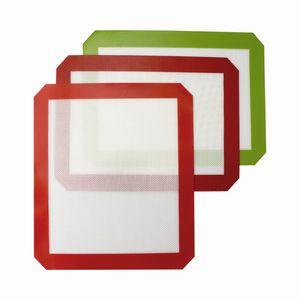 DHL !!! Tapis anti-adhésifs en silicone (11,8 x 8,3 pouces) Tapis de cuisson en silicone Tampons à la cire d'huile Dab Cuire les herbes sèches Dab Rigs