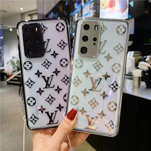 Modedesigner transparent L Schale mit feiner Durchkontaktierung Kante für Huawei P30 P40 mate30 mit hängendem Seil iphone 11 11promax 11Pro X XSM