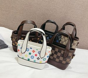 핸드백 어린이 pu 인쇄 아기 미니 지갑 어깨 가방 십대 어린이 여자 메신저 가방 체인 가방 귀여운 크리스마스 선물