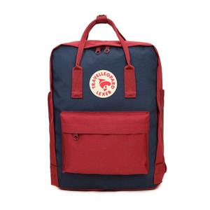 Authentic Fjallraven Kanken Backpacks Deep Blue Students Waterproof Computer Bags Travel Backpacks In Stock Hot Sale #QA843