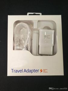2 in1 Schnell-Ladegerät Kits Schnelllade Wand Charger + 1.5M USB-Kabel 15W Schnell Adaptive Travel Adapter mit Kleinpaket für Samsung huawei