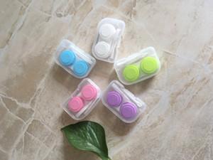 10 set / lotto Chiaro Lenti a contatto cosmetiche custodia coppia scatola colore lenti a contatto per occhi cura contenitore porta lenti a contatto L002