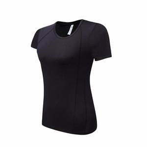 Yoga Fitness T-Shirts Women 3Colors colletto tondo Maglia traspirante Elastico Soft Clothes Running Hiking Yoga manica corta T-shirt