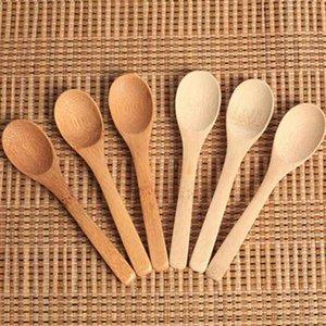 Madeira Jam Colher do bebê de bambu mel Colher de café Colher New delicado cozinha usando o condimento pequeno 12,8 * 3 centímetros ZZA1829