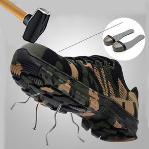 Мужские стальные носки защитная обувь повседневная дышащая кроссовки прокол Доказательство сапоги удобная промышленная обувь для мужчин