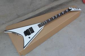Высокое качество инициатива Новая EMG пикап типа V белый электрическая гитара со стороны кольца черного цвета