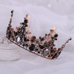 Роскошное Барокко Люкс Корона Дешевые, но высокого качество Искорка бисер кристаллы Royal Wedding Коронка Кристалл Veil оголовье аксессуары для волос партия