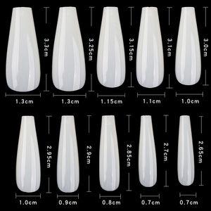 Dicas Art 600pcs Coffin Nails Falso Art Clear / Natural da bailarina / Stiletto Forma falsos unhas destacável Nails cobertura completa do prego