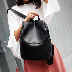 New Washed Shoulder Bags Casual Bags Pure Color Women travel backpack women bookbag