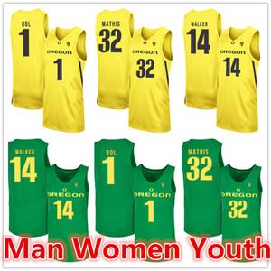 customize NCAA Oregon Ducks Basketball-Trikots Anthony Mathis 32 Bol 1 C. J. Walker 14 Jersey irgendein Name Anzahl Größe S-5XL