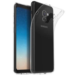 Clear Thin Soft Silicone Ultra Slim Fit Crystal Transparent Bumper Flexible TPU Case for Samsung galaxy A7 2018 A750 A8 2018 A9 2018