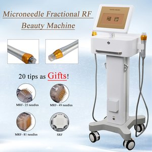fraktionierte rf microneedle Falten entfernen Thermal RF Hautverjüngung Schönheit Ausrüstung zwei Griffe mit 4 Tipps