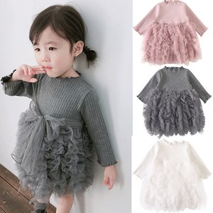 Baby Princess Girl Wear manica lunga Knit Dress 0-6 Anni Birthday Party Toddler Costume Autunno Per Infant Vestidos Q190518