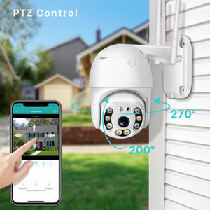 Kablosuz WIFI PTZ IP Kamera HD 1080p renk Gece görüşü Speed Dome Kamera Su geçirmez Ev Güvenlik Video Gözetleme kamera