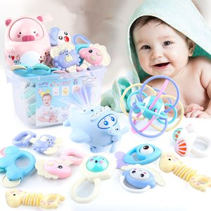 Newborn baby toys 0-1 years old boys and girls toys rattles educational early preschool ensemble hand bell 6 pieces set